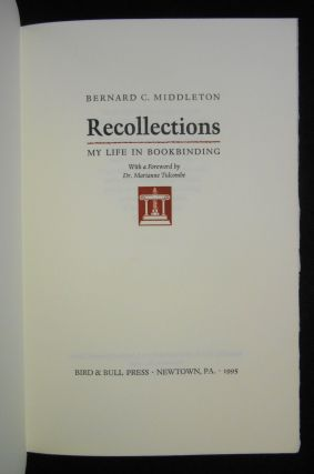 Recollections, My Life in Bookbinding