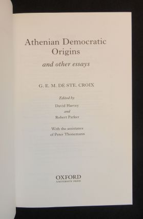 Athenian Democratic Origins; and other essays