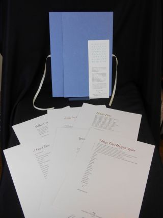 Oxford Poetry Broadsides; First Series. Anne Carson, Wendy Cope, Robert Crawford, John Fuller,...