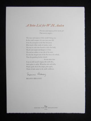 Oxford Poetry Broadsides; First Series