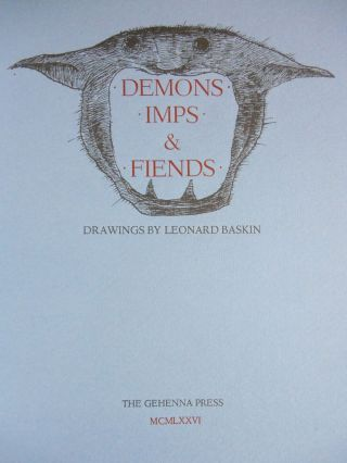 Demons, Imps & Fiends [WITH ORIGINAL PENCIL SKETCH BY BASKIN]