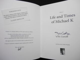 Oak Tree Press First Chapter Series, Volumes I - VII: Life and Times of Michael K; Disgrace; Holiday; The Conservationist; Sacred Hunger; The Blind Assassin; The Line of Beauty