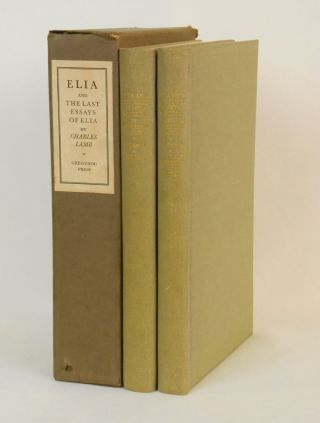 Elia and The Last Essays of Elia. Charles Lamb, Horace Walter Bray, Wood Engravings.
