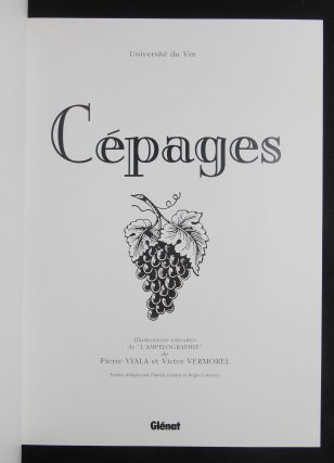 "Cépages; Illustrations Extraites de ""L'Ampelographie"""