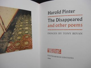 The Disappeared and Other Poems (with separate signed print)