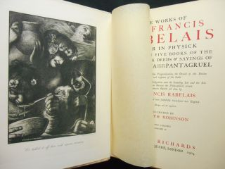 The Works of Mr. Francis Rabelais, Doctor in Physick; Containing Five Books of the Lives, Heroick Deeds & Sayings of Gargantua and His Sonne Pantagruel. . .