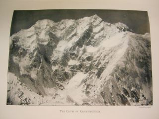 Round Kangchenjunga; A Narrative of Mountain Travel and Exploration. Douglas W. Freshfield,...