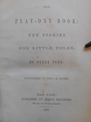 The Play-Day Book: New Stories for Little Folks