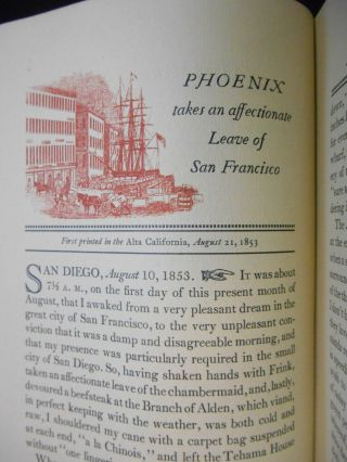 Phoenixiana, A Collection of the Burlesque & Sketches of John Phoenix, alias John P. Squibob, who was, in fact, Lieutenant George H. Derby, U.S.A.