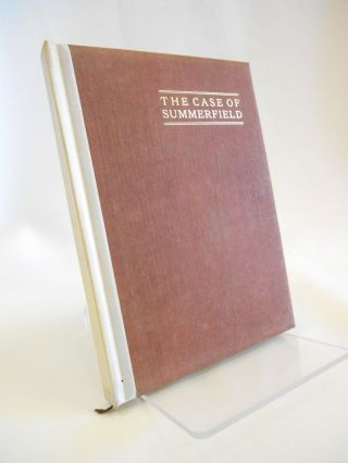 The Case of Summerfield (with both DJ and slipcase). W. H. Rhodes, Geraldine Bonner, Introduction