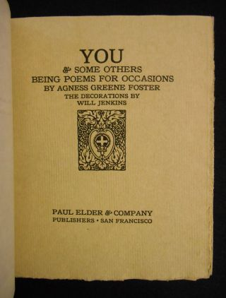 You & Some Others, Being Poems for Occasions