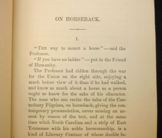 On Horseback; A Tour in Virginia, North Carolina, and Tennessee, With Notes of Travel in Mexico and California